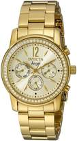 Invicta Women's Angel Gold Dial 18k Gold Ion-Plated Stainless Steel Watch 11770