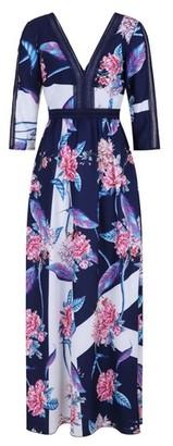 Dorothy Perkins Womens **Little Mistress Navy Floral Print Maxi Dress, Navy