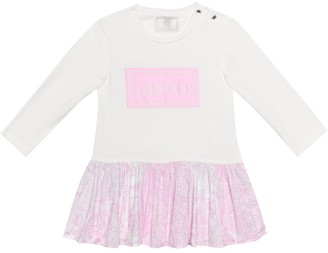 Versace Kids Baby cotton dress and bloomers set