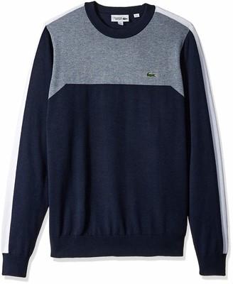 Lacoste Men's Sport Long Sleeve Color Blocked Crewneck Sweater