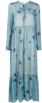 Forte Forte Floral Flared Maxi Dress