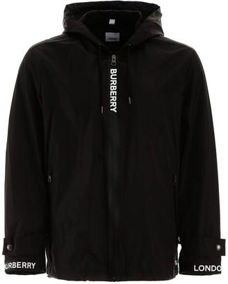 Burberry Logo Lightweight Hooded Jacket
