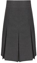 John Lewis Girls' School Generous Fit Adjustable Waist Pleated School Skirt, Grey