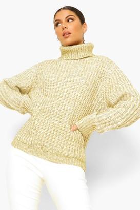 boohoo Roll Neck Tinsel Sweater