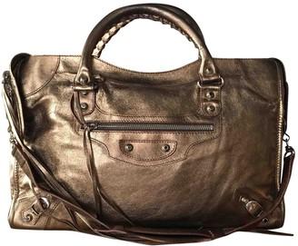 Balenciaga City Metallic Leather Handbags
