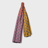 Paul Smith Men's Grey Dégradé Spot Scarf