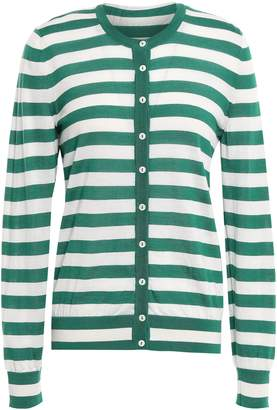 Dolce & Gabbana Striped Cashmere And Silk-blend Cardigan