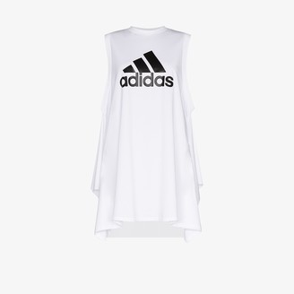 adidas X HYKE draped vest top