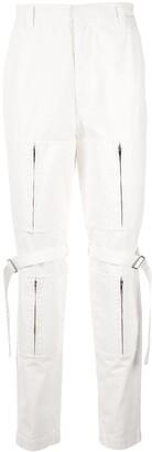 Ambush zip-detail straight leg trousers