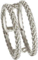 Astley Clarke Stilla Spiga double sterling silver chain ring