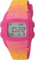 GUESS GUESS? Women's Quartz Rubber and Silicone Casual Watch, Color: (Model: U0943L2)