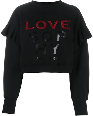 Philosophy di Lorenzo Serafini Sequin-Embellished Logo Sweatshirt