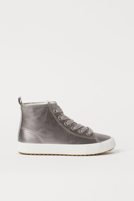 H&M Faux Shearling-lined High Tops
