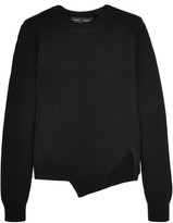 Proenza Schouler Asymmetric Stretch Wool-blend Sweater - Black