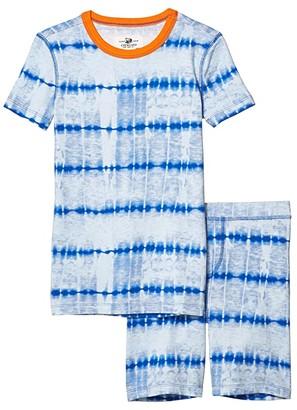 J.Crew crewcuts by Tie-Dye Short Sleeve Sleep Set (Toddler/Little Kids/Big Kids) (Blue) Boy's Pajama Sets