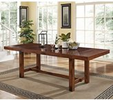 Walker Edison Rustic Dark Oak Wood Dining Table
