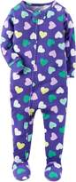 "Carter's Baby Girls' ""Candy Hearts"" Footed Pajamas"