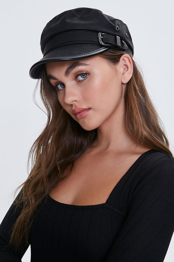 Thumbnail for your product : Forever 21 Buckled Cabbie Hat
