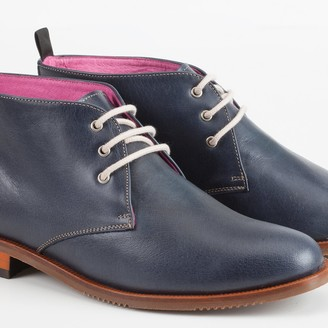 Its Got Soul Bota Navy Leather Boot