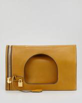 Tom Ford Alix Small Padlock & Zip Shoulder Bag, Olive