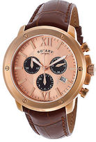 Rotary GS02840-25 Men's Chrono Brown Genuine Leather Rose-Tone Dial