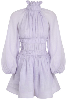 Zimmermann Luminous Linen-Silk Mini Dress