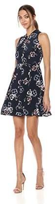 Rebecca Taylor Women's Sleeveless Faded Knot Dress