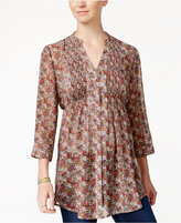 American Rag Printed Pintucked Blouse, Only at Macy's