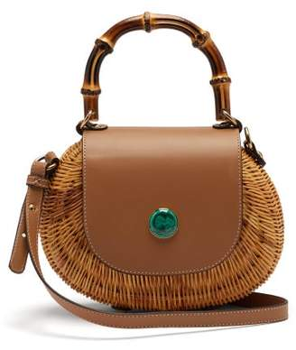 Wai Wai - Marina Wicker Cross-body Bag - Womens - Tan Multi