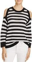 Rag & Bone Tracey Stripe Cold Shoulder Sweater