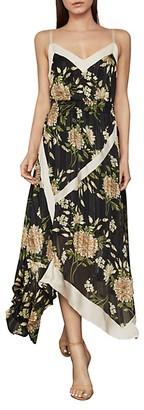 BCBGMAXAZRIA Floral Midi Handkerchief Dress