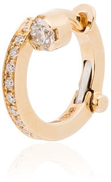 Sophie Bille Brahe 18kt yellow gold Petite Emelie diamond single huggie earring