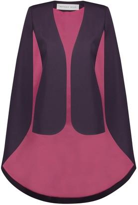 Iconic Purple Gabardine Cape Jacket