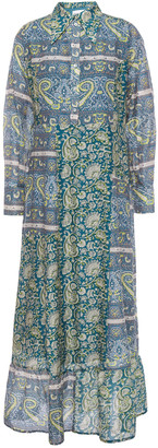 Antik Batik Kheti Printed Cotton And Silk-blend Voile Midi Dress