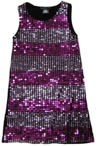 **SALE**Flowers By Zoe - Kid's Black Striped Sequin Tank Dress