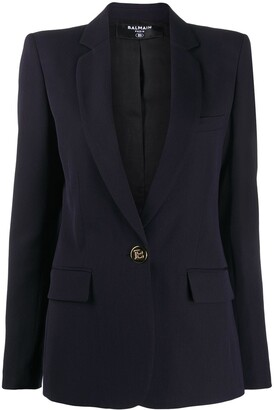 Balmain Embossed Buttons Single-Breasted Blazer
