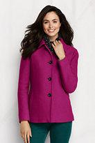 Classic Women's Boiled Wool Jacket-Frost Blue