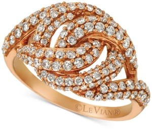 LeVian Le Vian Diamond Knot Ring (1-1/6 ct. t.w.) in 14k Rose Gold