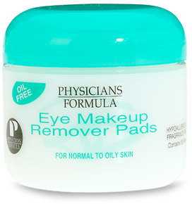 Physicians Formula Eye Makeup Remover Pads, Oil Free, For Normal to Oily Skin