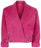 Topshop '80s cropped suede jacket