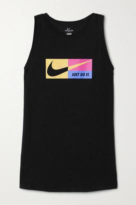Nike Icon Clash Printed Dri-fit Cotton-blend Jersey Tank - Black