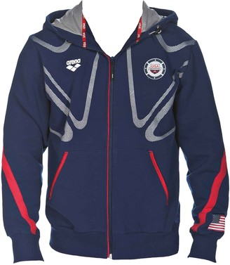 Arena Official USA Swimming National Team Unisex Zip-Up Hooded Jacket