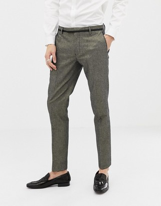 Twisted Tailor super skinny gold suit trousers