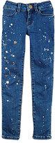 Scotch R'Belle Star-Print Jeans-BLUE