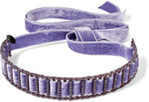 Erickson Beamon American Graffiti Velvet Swarovski Crystal Choker - Purple