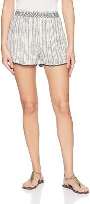 En Creme Women's Woven Stripped Shorts