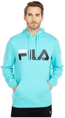 Fila Fiori Hoodie (Blue Turquoise/Turtle Dove/Black) Men's Clothing