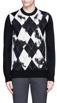 Alexander McQueen Argyle wool-cashmere sweater