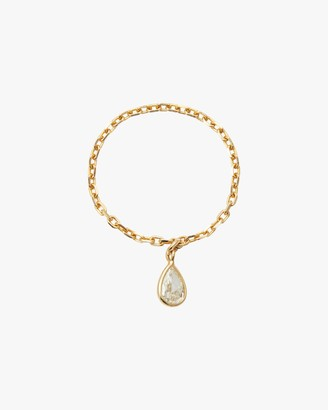 Yi Collection Diamond Dewdrop Chain Ring