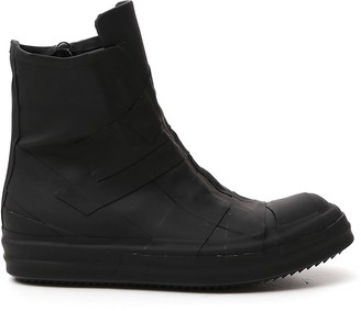 Rick Owens Zip Up High Top Sneakers